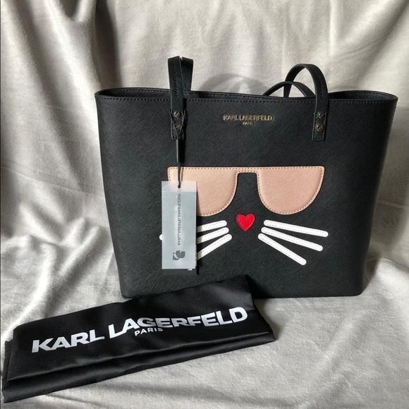 Karl Lagerfeld Bags Paris Chou Pette Cat Face Handbag Poshmark